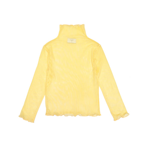 Tulle Turtleneck  Top Yoko - Yellow