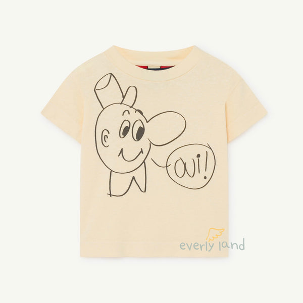 Rooster Kids T-Shirt - Yellow/OUI