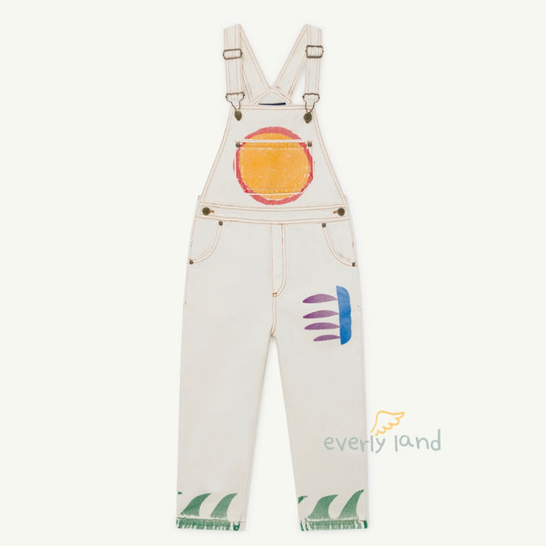 Mule Kids Dungaree - White/SUN