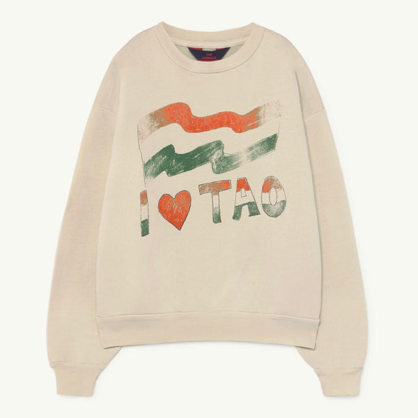 Bear Kids Sweatshirt - White/Flag