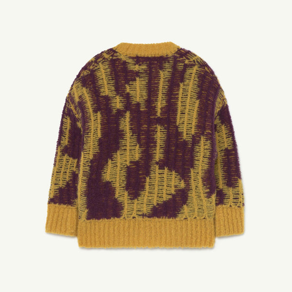 Arty Raccon Kids Cardigan - Yellow