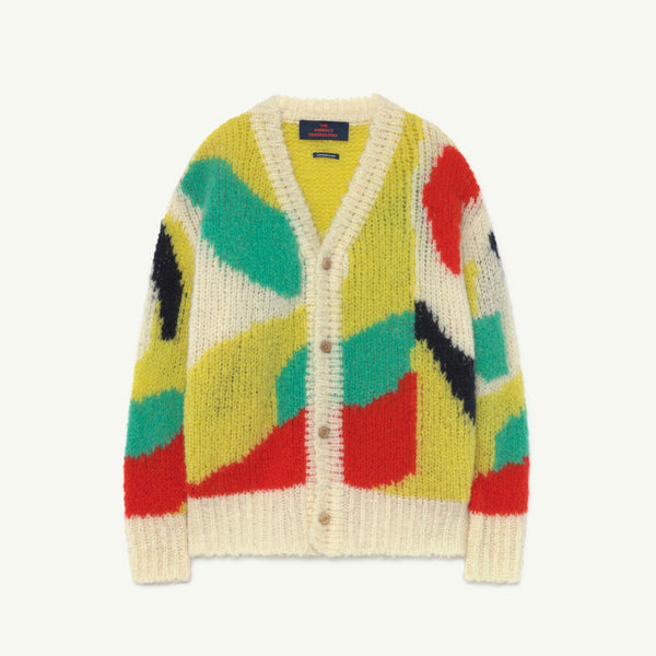 Arty Raccon Kids Cardigan - Multicolor