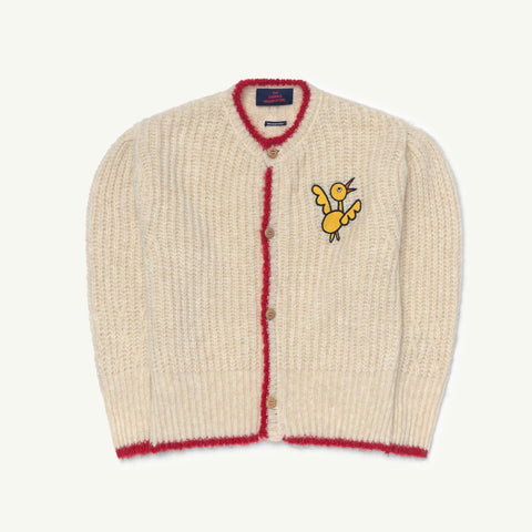 SX Parrot Kid Cardigan - White Bird