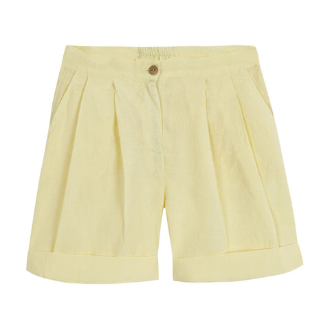 Linen Short - Yellow