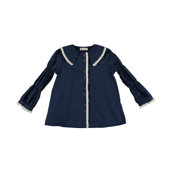 B02 Blouse - Russet Navy Trench