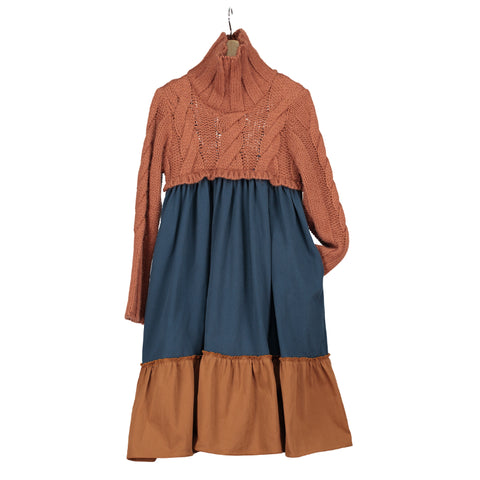 V01.1 Dress -  Porcelain Navy Trench