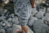 Under The Sea Shortie PJ Set - Whale Grey