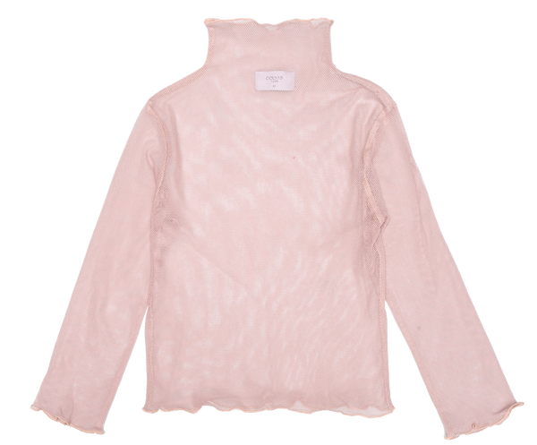 Tulle Turtleneck  Top Yoko - Pink