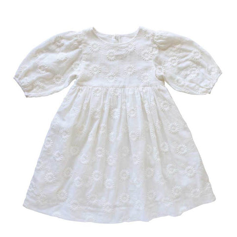 Brigetta Dress - Wisteria Broderie Anglaise / Milk