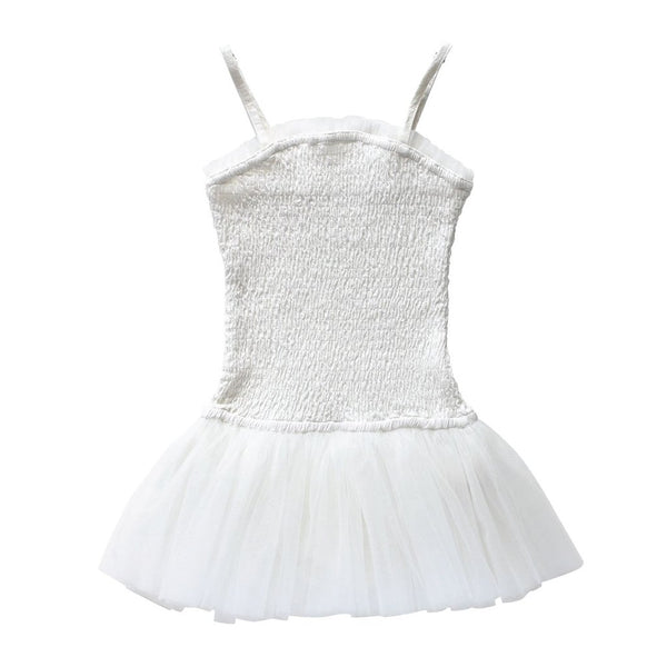 Priouette Tutu Playsuit - Ivory Crepe