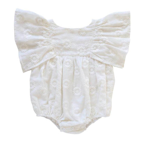 Daphne Playsuit - Margurite Broderie Anglaise / Milk