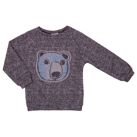 Kid Bubble Sweater - Grey Melange/Bear