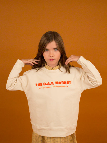 Graphic Sweatshirt - The Day Market/Beige
