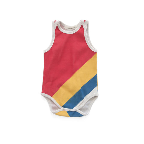 Olympic Stripe Tank Bodysuit