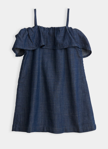 Bardot Dress - Chambray