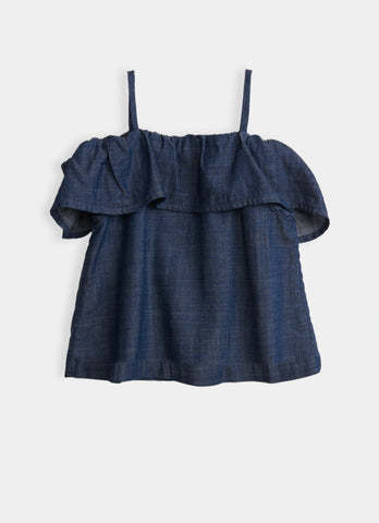 Bardot Top - Chambray