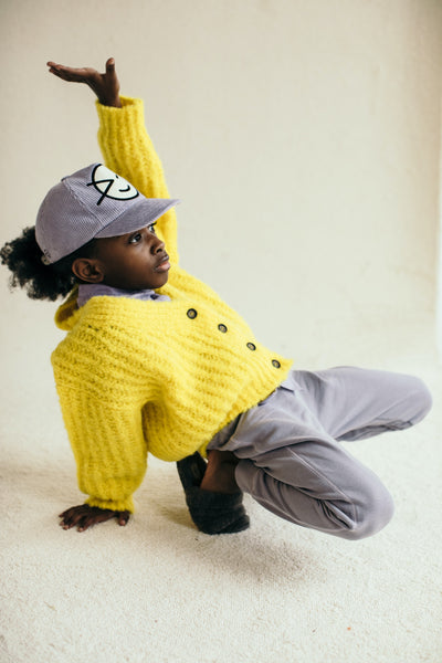 Big Rib Cardigan - Yella