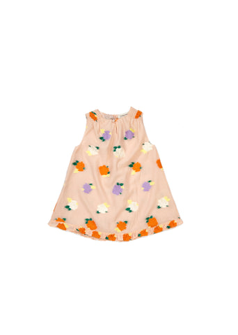 Carola Baby Party Dress - Pale Pink Flower