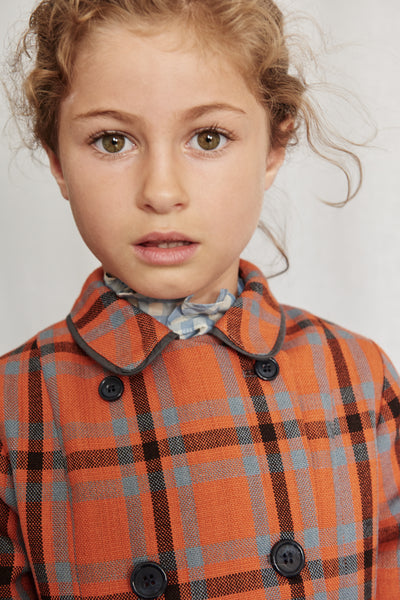 Ladoga Coat - Orange Check