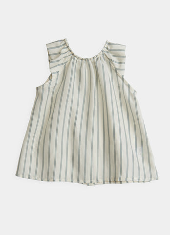 Cap Sleeve Top - Double Stripe