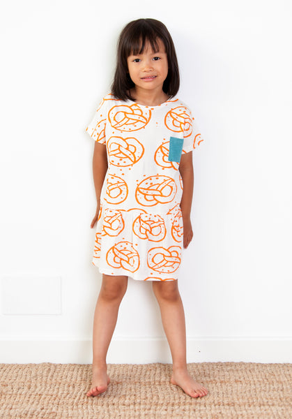 Big Brezel T-Shirt Dress - Popcorn Ivory