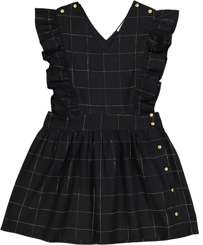 Dress Diana - Big Check/Gold Lurex