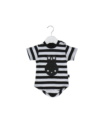 Stripe Hux Bunny Drop Back T-Shirt