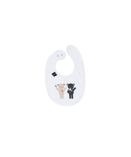 Lolly Bears Bib - White