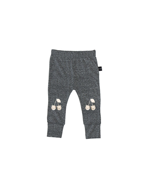 Gold Cherry Cat Legging - Grey