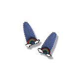 Mini Rainbow Denim Snap Clip - 2 Pairs