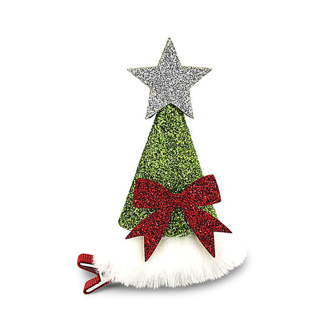 Christmas Tree Duck Clip - Silver
