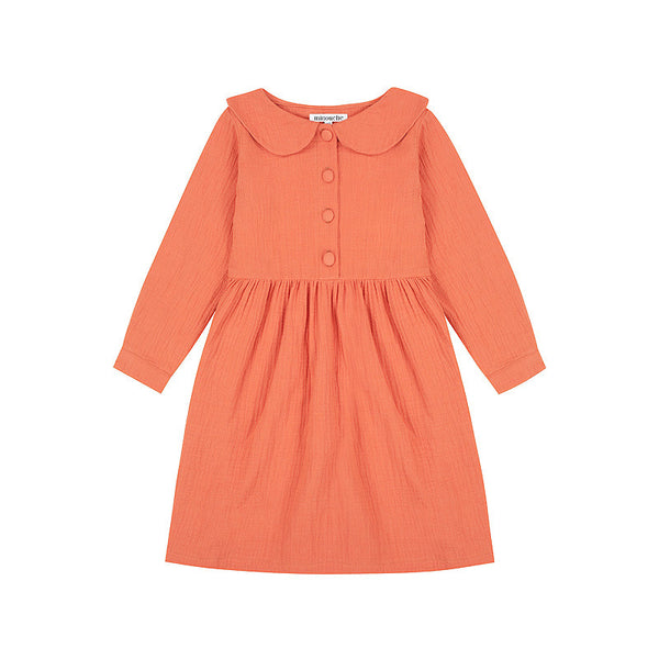 Adelaide Button Front Dress - Rust