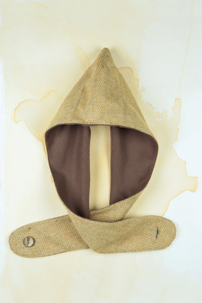 Ochre Hat With Scarf
