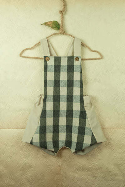 Chequered Dungarees
