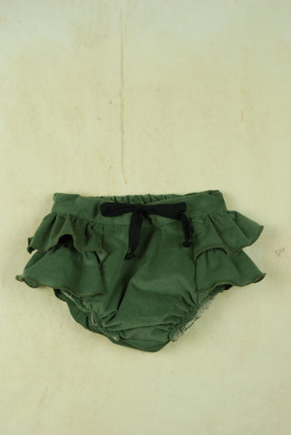 Green Culotte With Frill