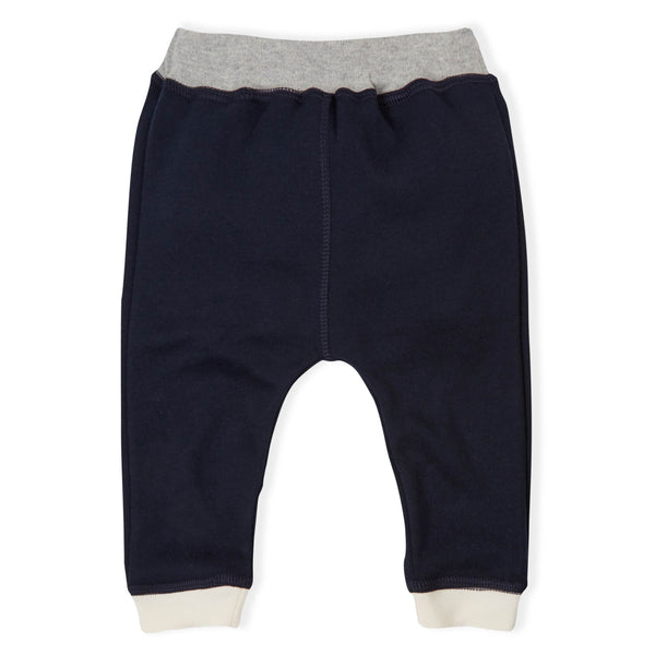 Pants with Natural Cuffs - Navy