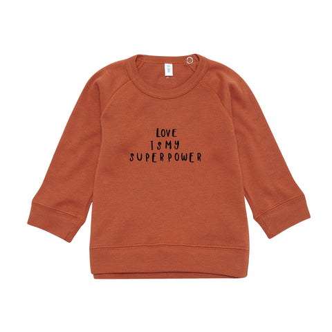 Rust Sweatshirt Love