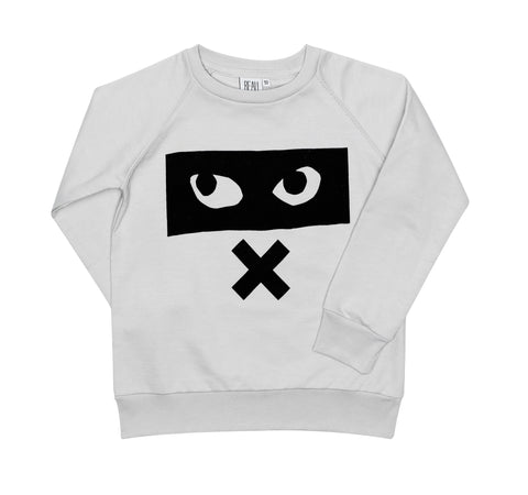 Raglan Jumper - Dove Grey/Eyes X