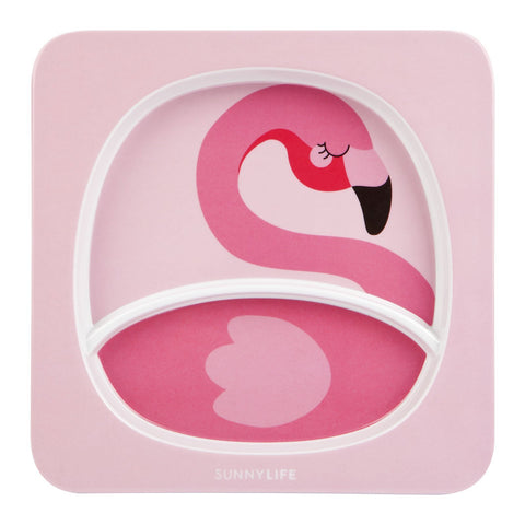Kids Plate - Flamingo