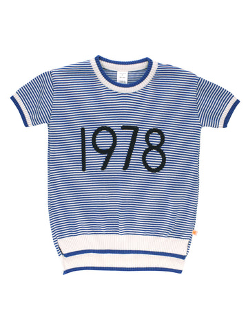 1978 SS Sweater Knit - Off White/Blue