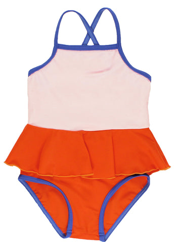 Frill Swimsuit - Pale Pink