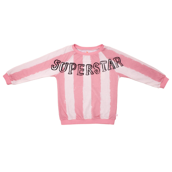College Sweater - Rose/Stripes XL