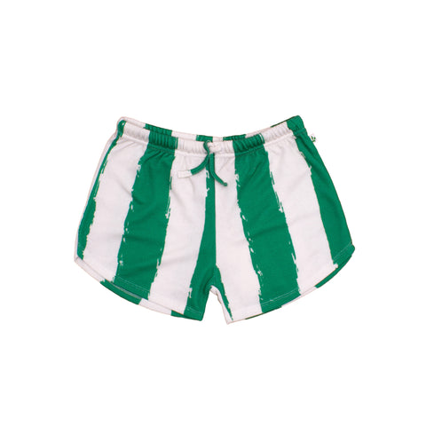 Kids Shortie - Green/Stripes XL