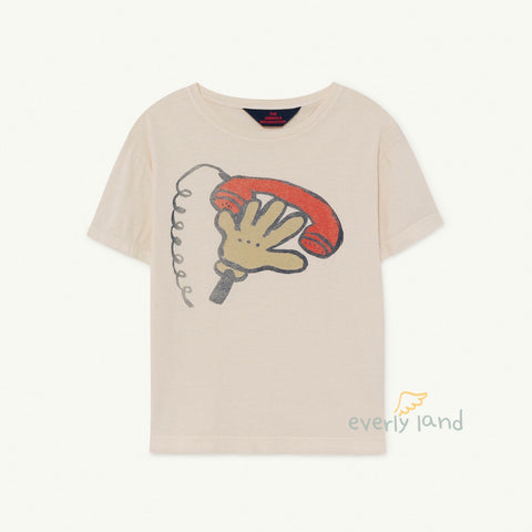Rooster Kids T-Shirt - White Telephone