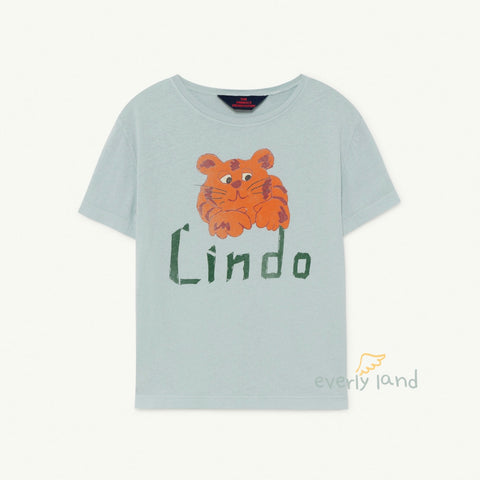 Rooster Kids T-Shirt - Blue Lindo