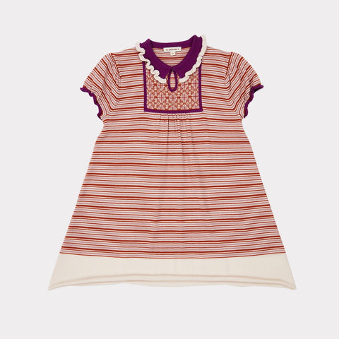 Narwhale Baby Dress - Lavender Stripe