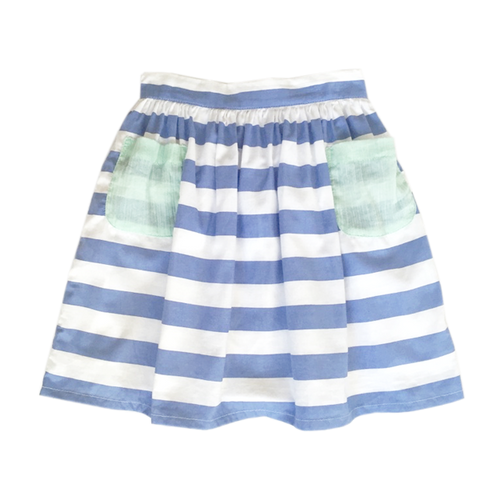 Adele Skirt - Blue Stripe