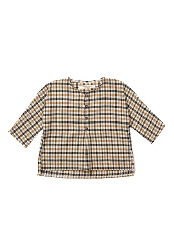 Grossular Baby Shirt - Ginger Check
