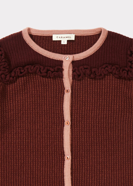 Hummingbird Cardigan - Burgundy