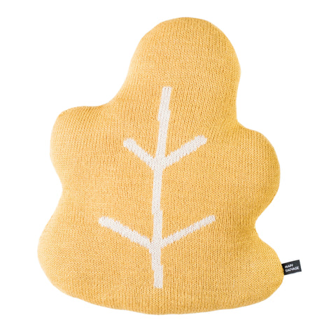 Leaf Pillow - Yellow